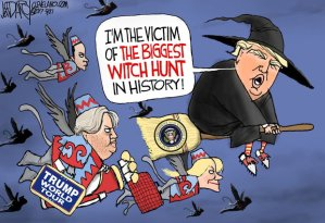 Trump witch hunt cartoon