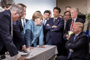 Merkel stares down Trump at the G7 summit