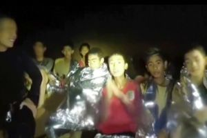 Thai Boys trapped in cave