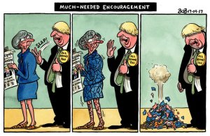 Theresa May & Boris Johnson cartoon