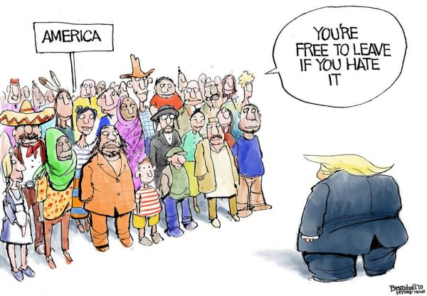 Trump cartoon on racism